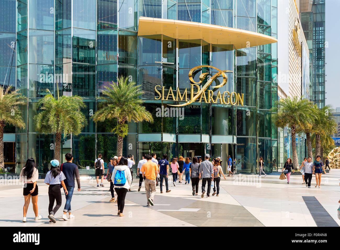Thailand, Bangkok, Siam Paragon shopping mall - Stock Image