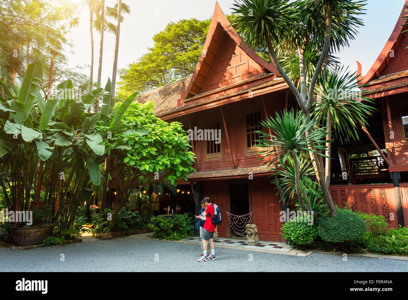 Thailand, Bangkok, Jim Thompson 's house - Stock Image