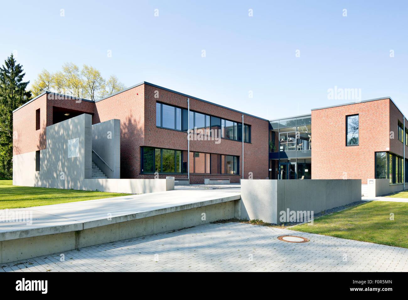 Landschulheim Hamm-Heessen, educational building, expansion, Hamm, Westphalia, North Rhine-Westphalia, Germany - Stock Image