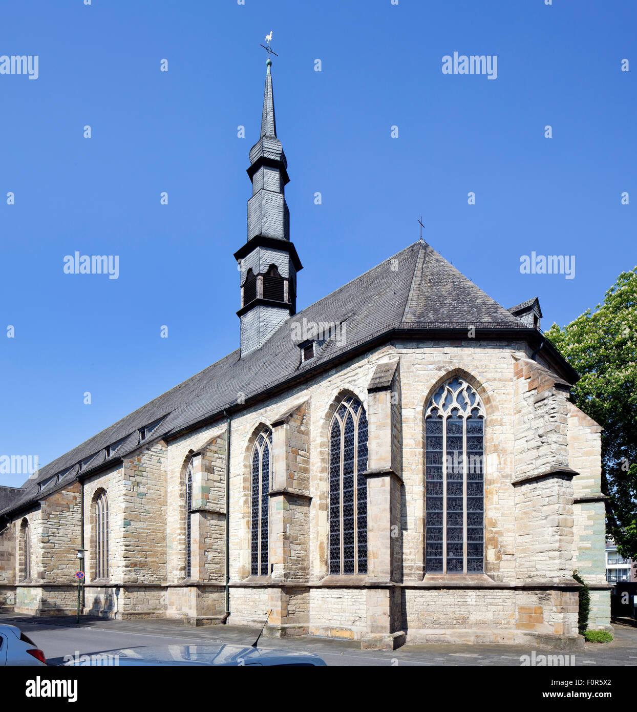 Catholic parish church of St. Agnes, Hamm, Westphalia, North Rhine-Westphalia, Germany - Stock Image