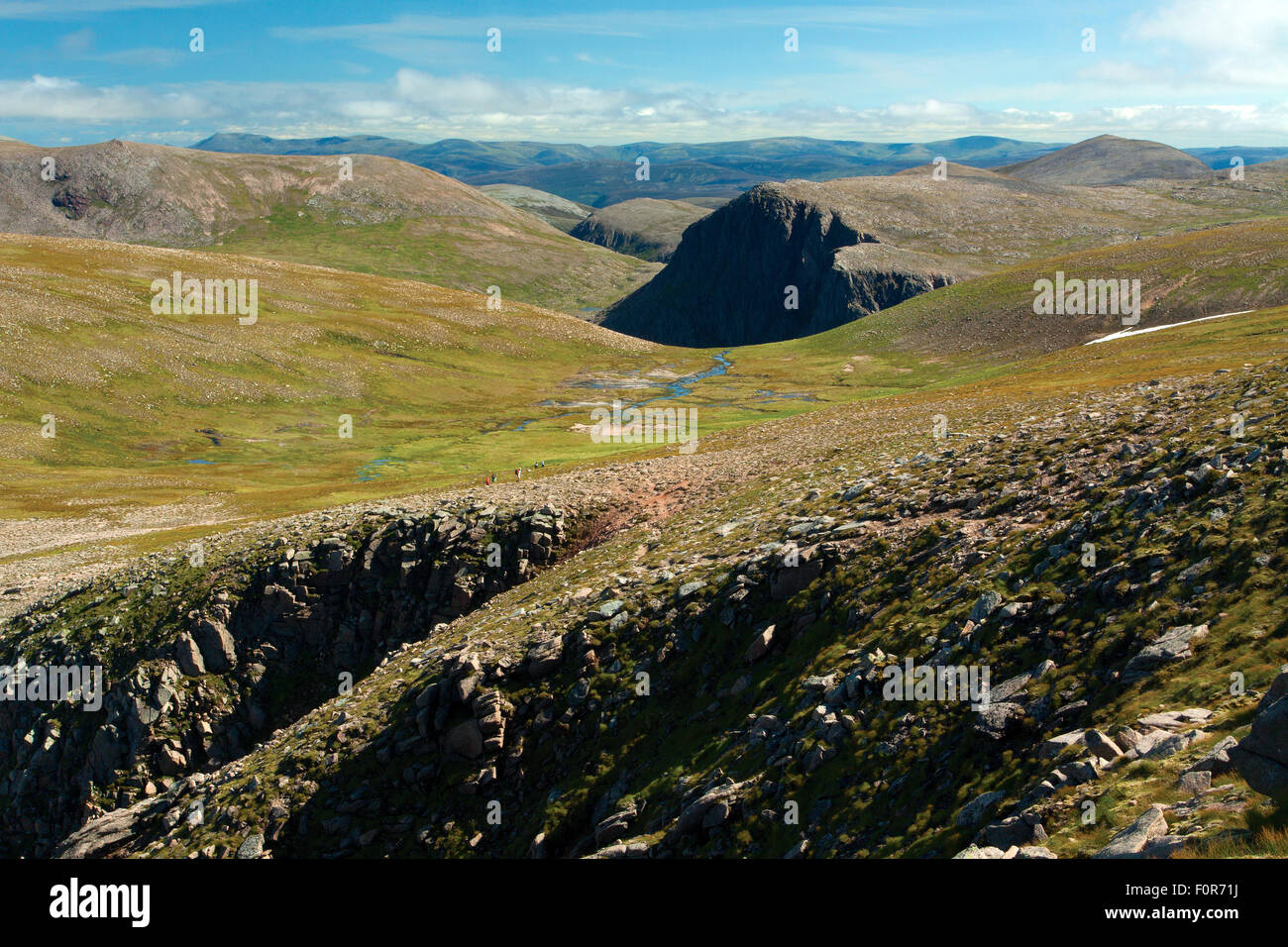 Carn Etchachan and the Cairn Gorm Plateau from Fiacaill Buttress, The Northern Corries, Cairngorm National Park, Stock Photo