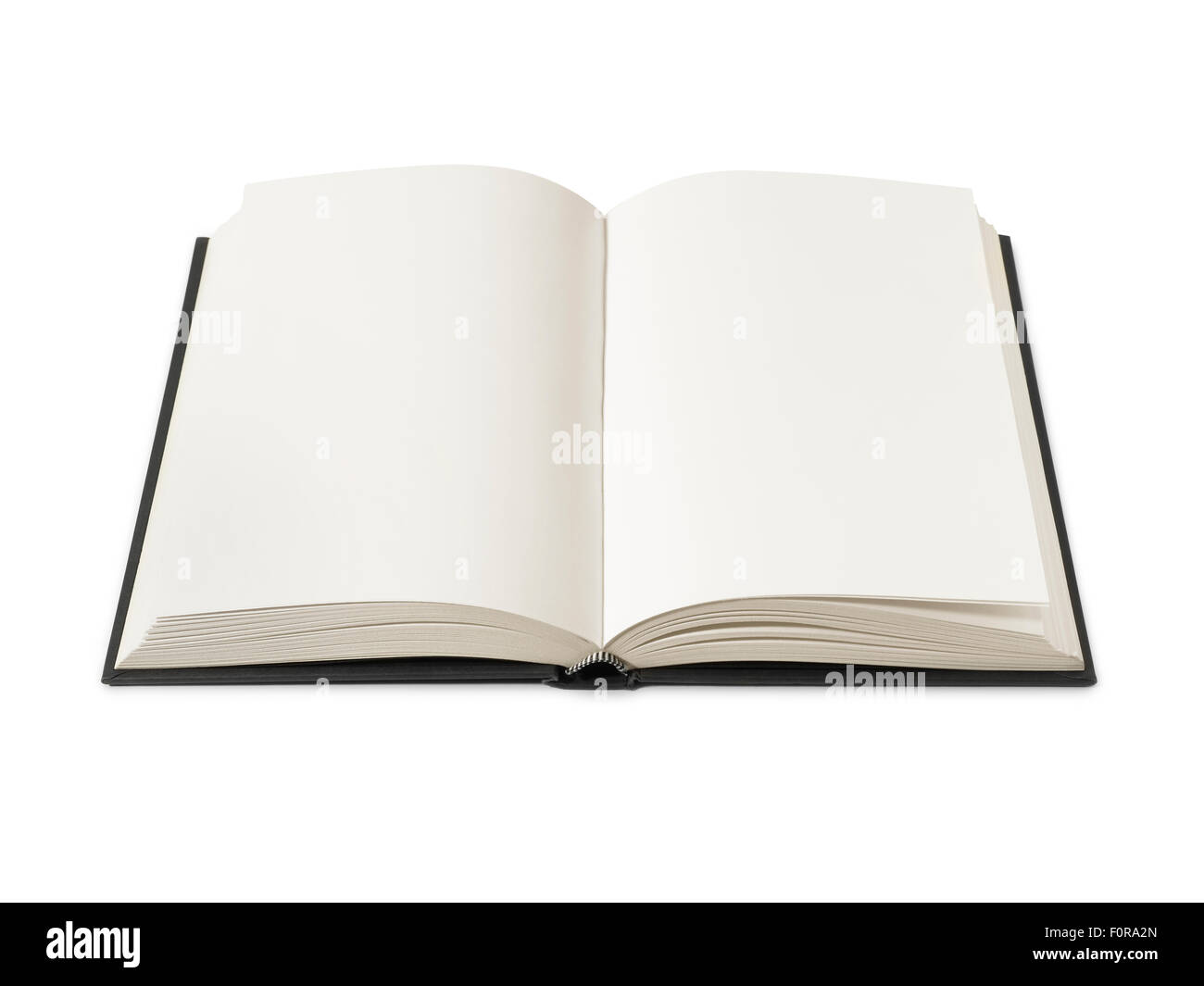 Open book isolated on white with clipping path - Stock Image