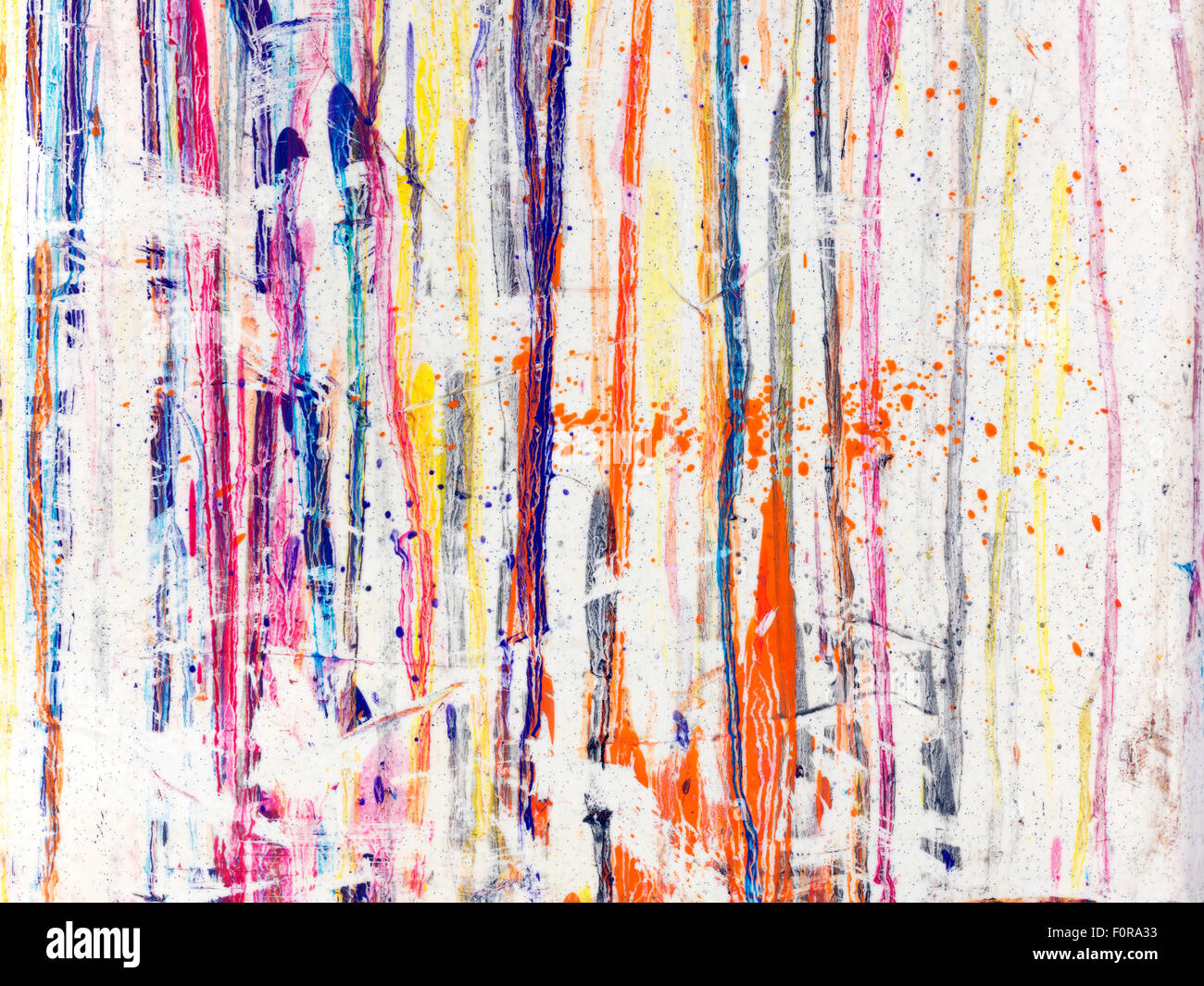 Splaterred paint on white background - Stock Image