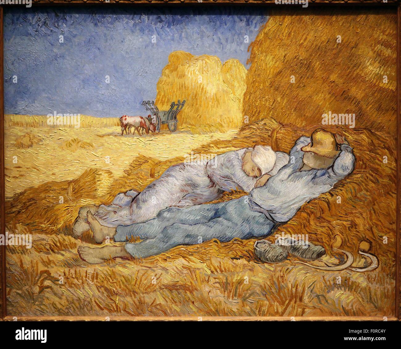 The Siesta after Millet 1889 Vincent van Gogh 1853-1890 - Stock Image