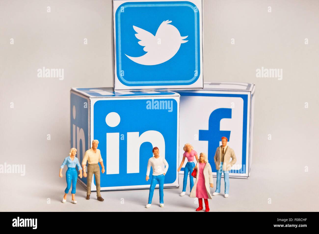 social media concept - Stock Image