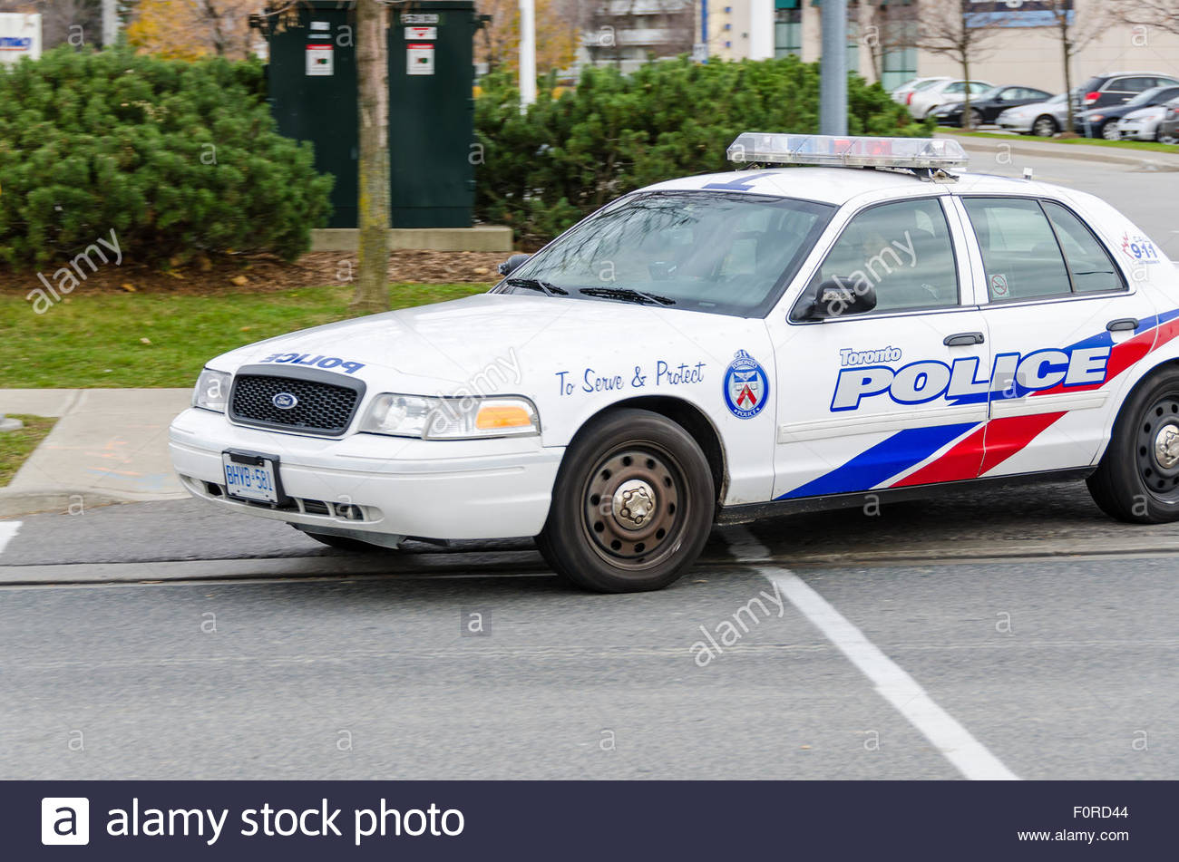 Toronto Police Car: Toronto Police Service is the largest municipal police service in Canada and third largest police Stock Photo