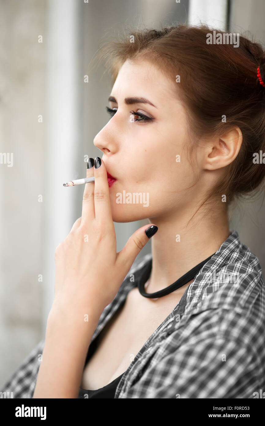 Pretty Girl Smoking Stock Photos & Pretty Girl Smoking
