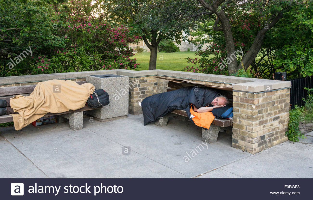 Homelessness in Toronto and in Canada: Homelessness in Canada has grown in size and complexity. Homelessness is - Stock Image