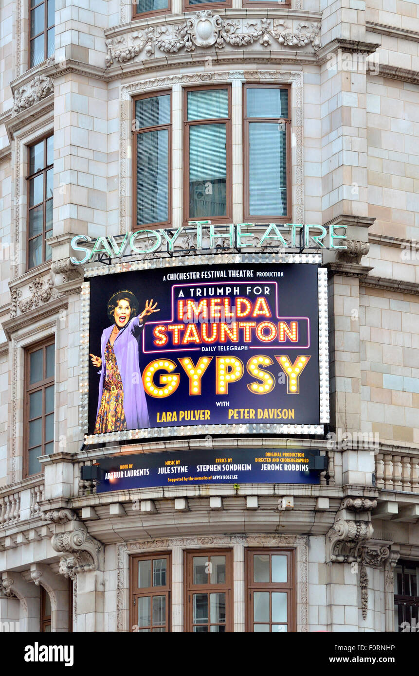 London, England, UK. 'Gypsy' the Musical at the Savoy Theatre, Strand (August 2015). Starring Imelda Staunton - Stock Image
