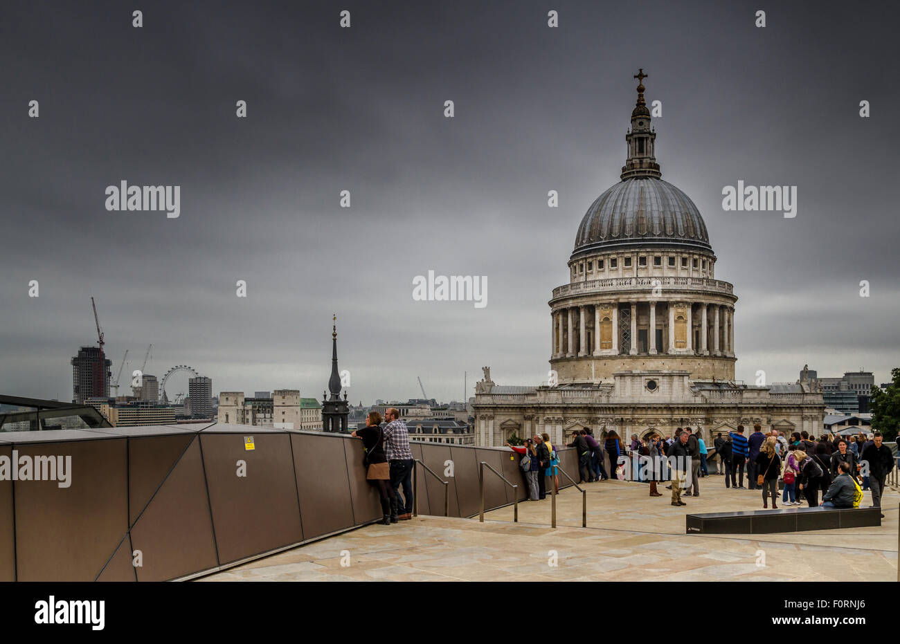 St Paul's Cathedral From 1 New Change - Stock Image