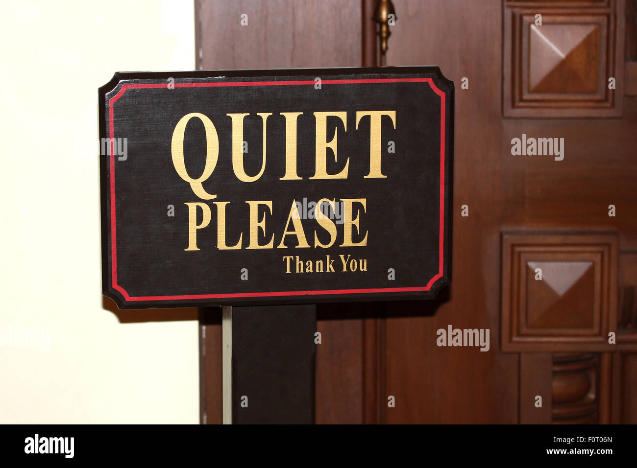 Quiet Please Sign Near The Door