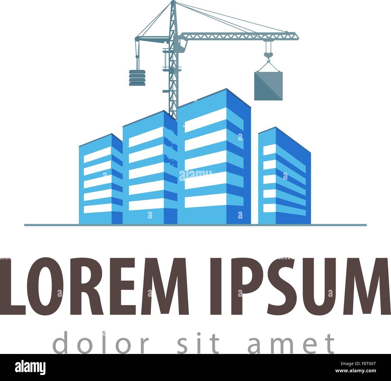 Construction Building Logo : City town vector logo design template construction