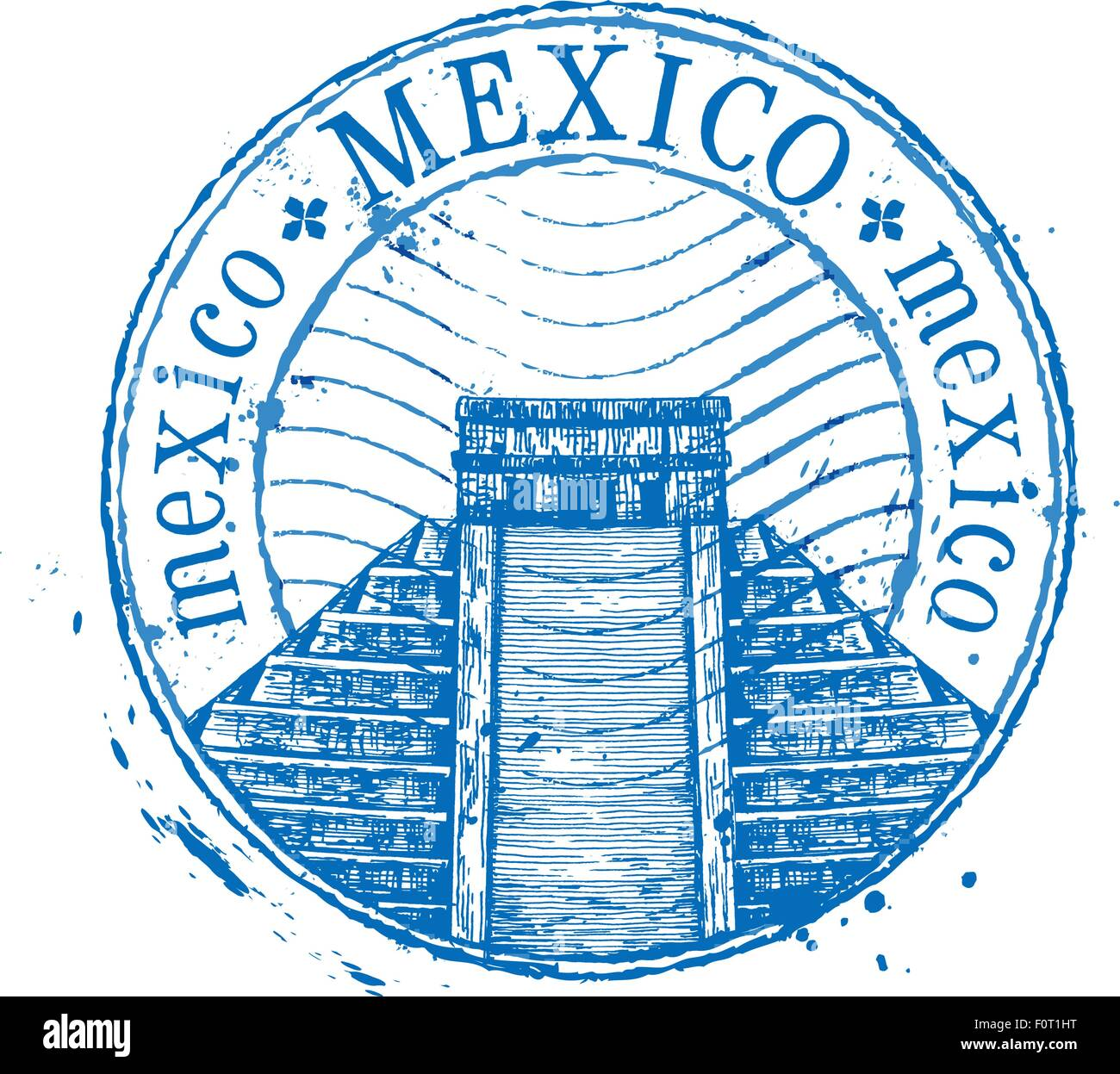 Mexico Stamp Stock Vector Images