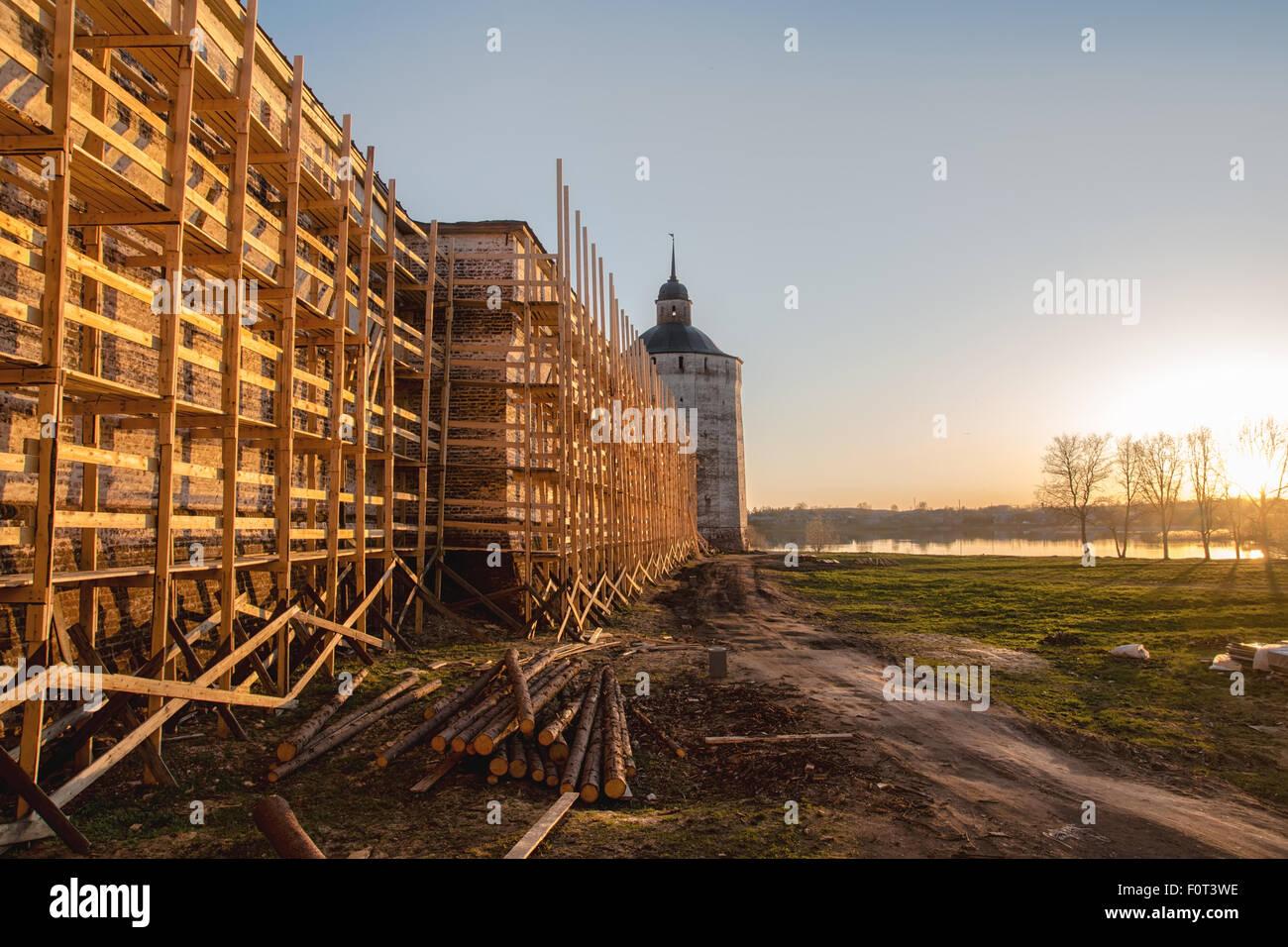 Kirillo-Belozersky Monastery. Reconstruction works - Stock Image