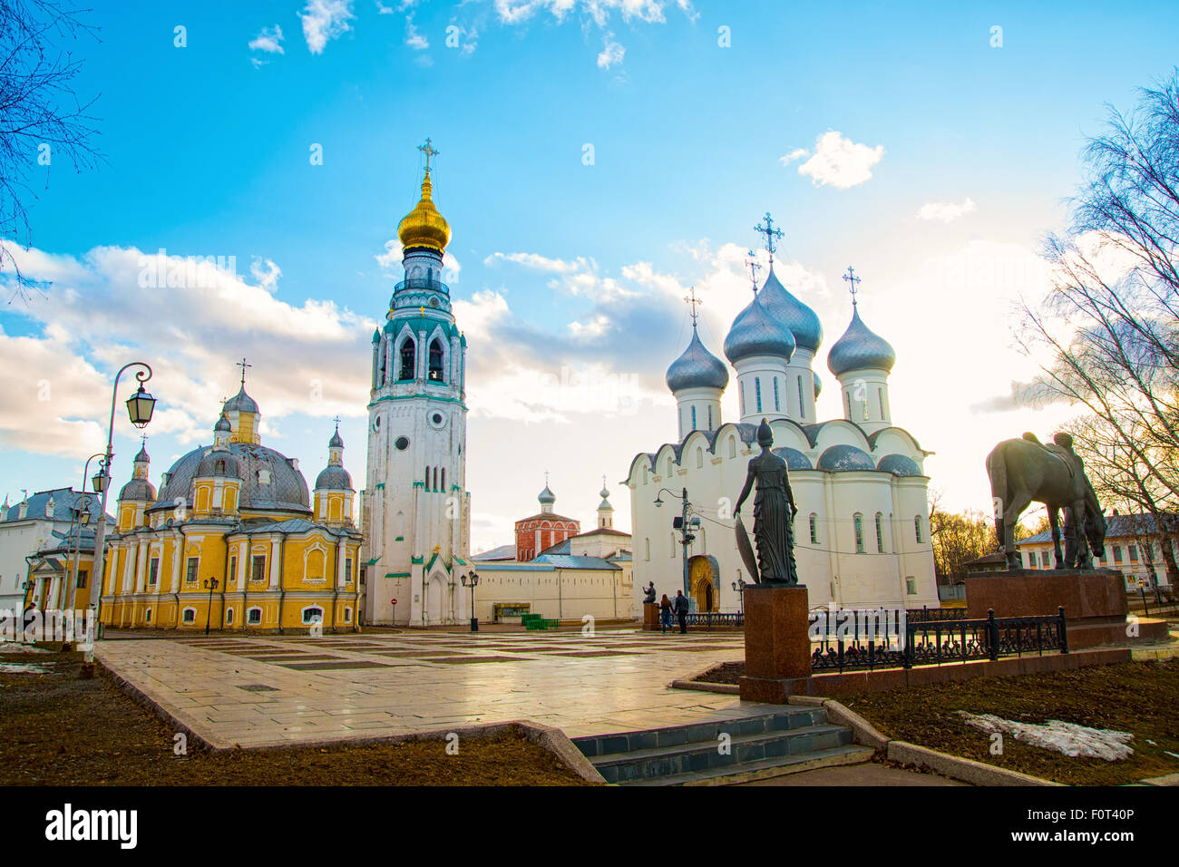 Sophia Cathedral and bell tower in the city of Vologda. Russia - Stock Image