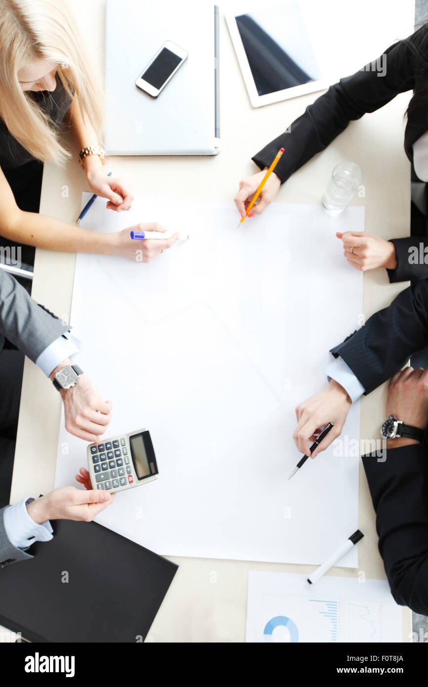 Business people on meeting - Stock Image