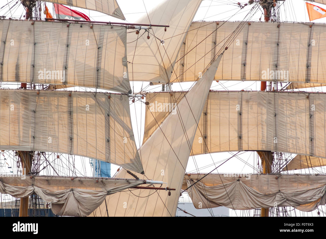 Tall ship Europa Amsterdam Sail 2015 - Stock Image