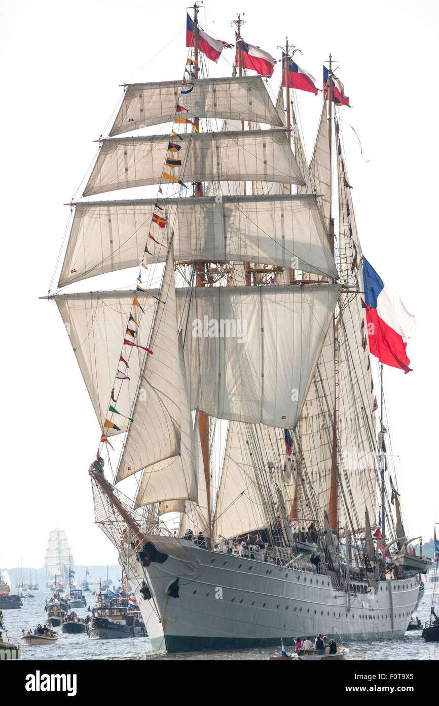 The tall ship Esmeralda from Chile, Amsterdam Sail 2015 - Stock Image