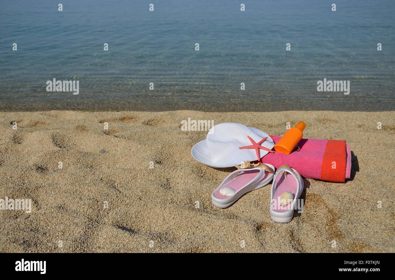 5e7036a03766f Tan Flip Flops Stock Photos   Tan Flip Flops Stock Images - Alamy