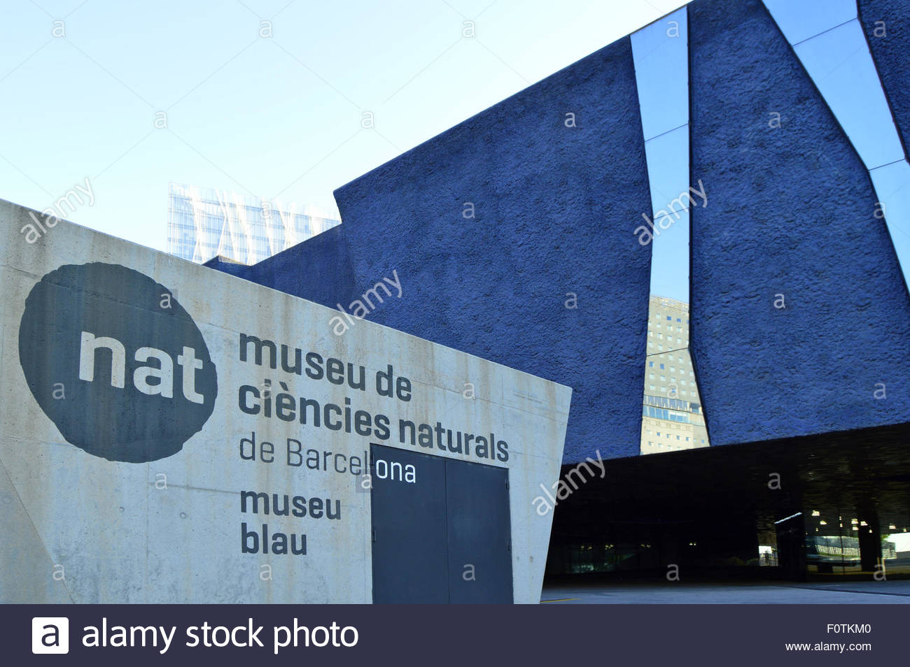 Museu Blau (Museum of Natural History and Science) in Barcelona Catalonia Spain Europe - Stock Image