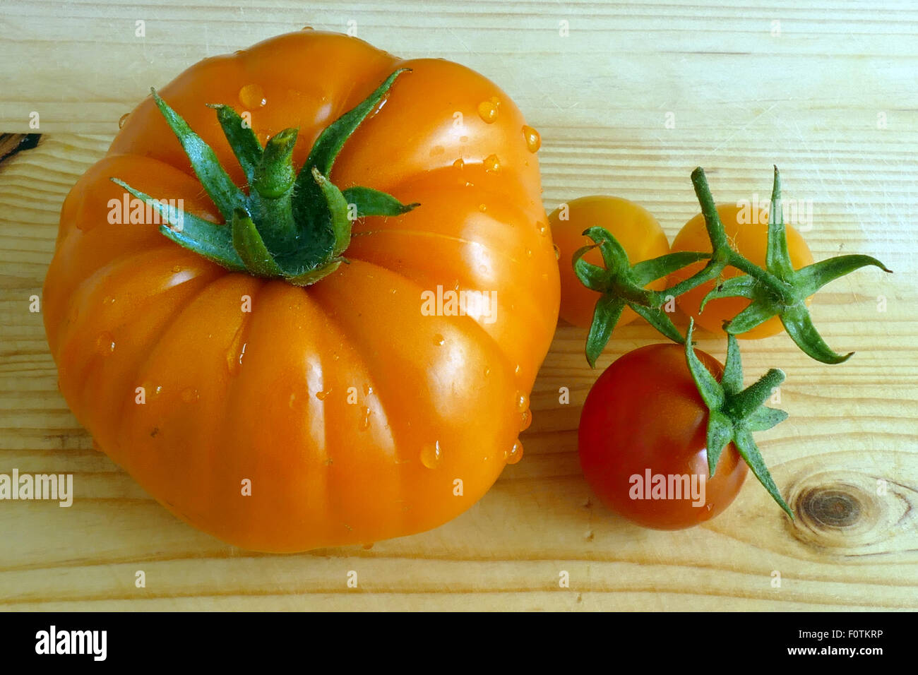 Fresh Fruits And Vegetables From A Home Garden Close Up Stock Photo