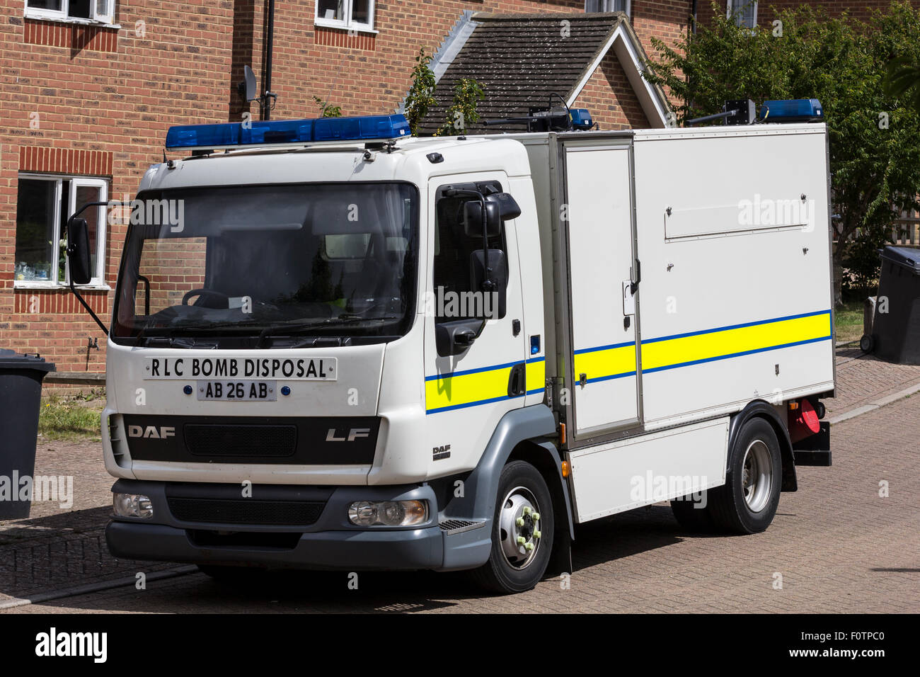 Royal Logistics Corps Bomb Disposal seen here at a house raid in Uckfield. - Stock Image