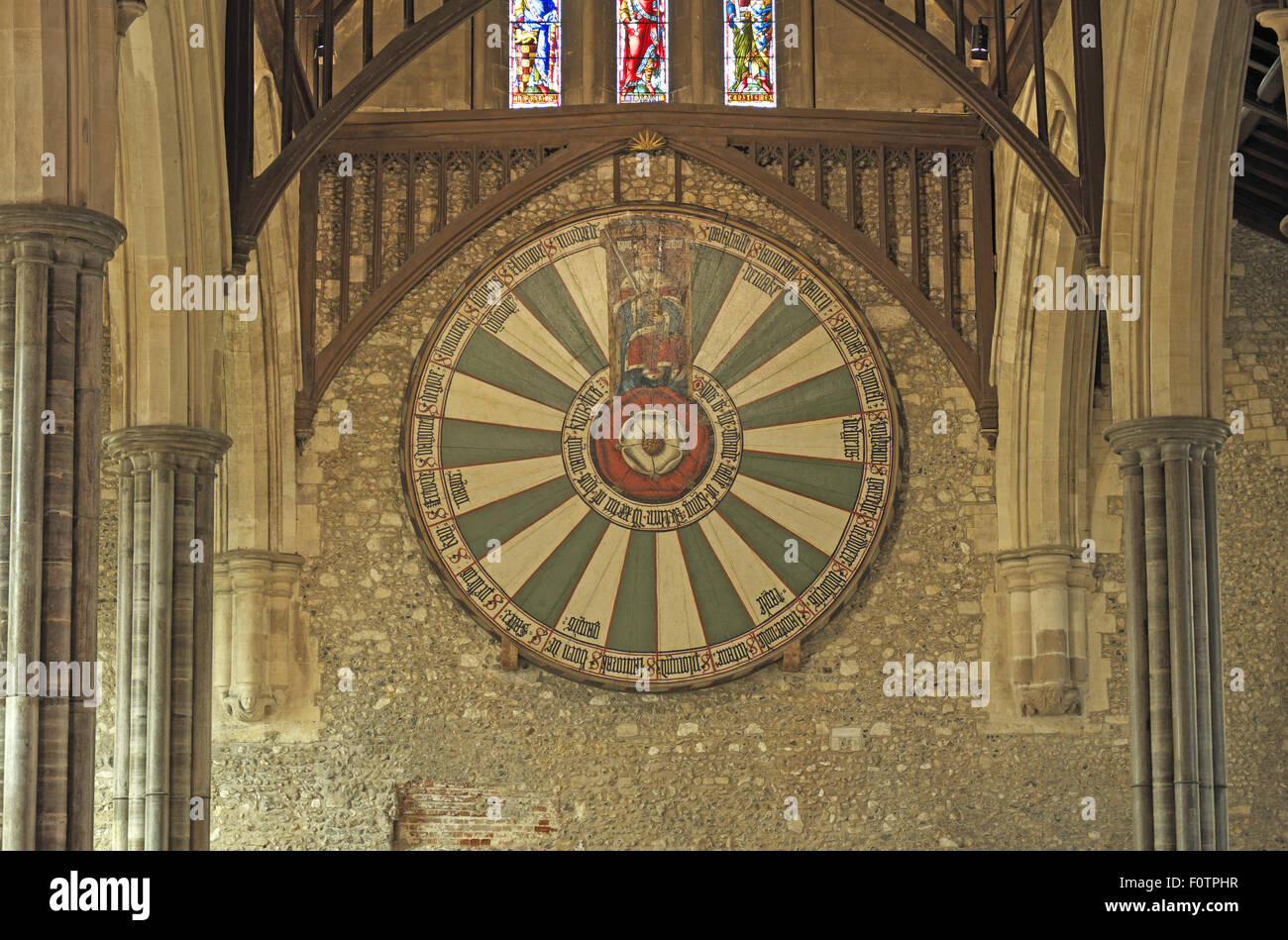 King Arthuru0027s Round Table, The Great Hall, Winchester Castle, Winchester,  Hampshire,