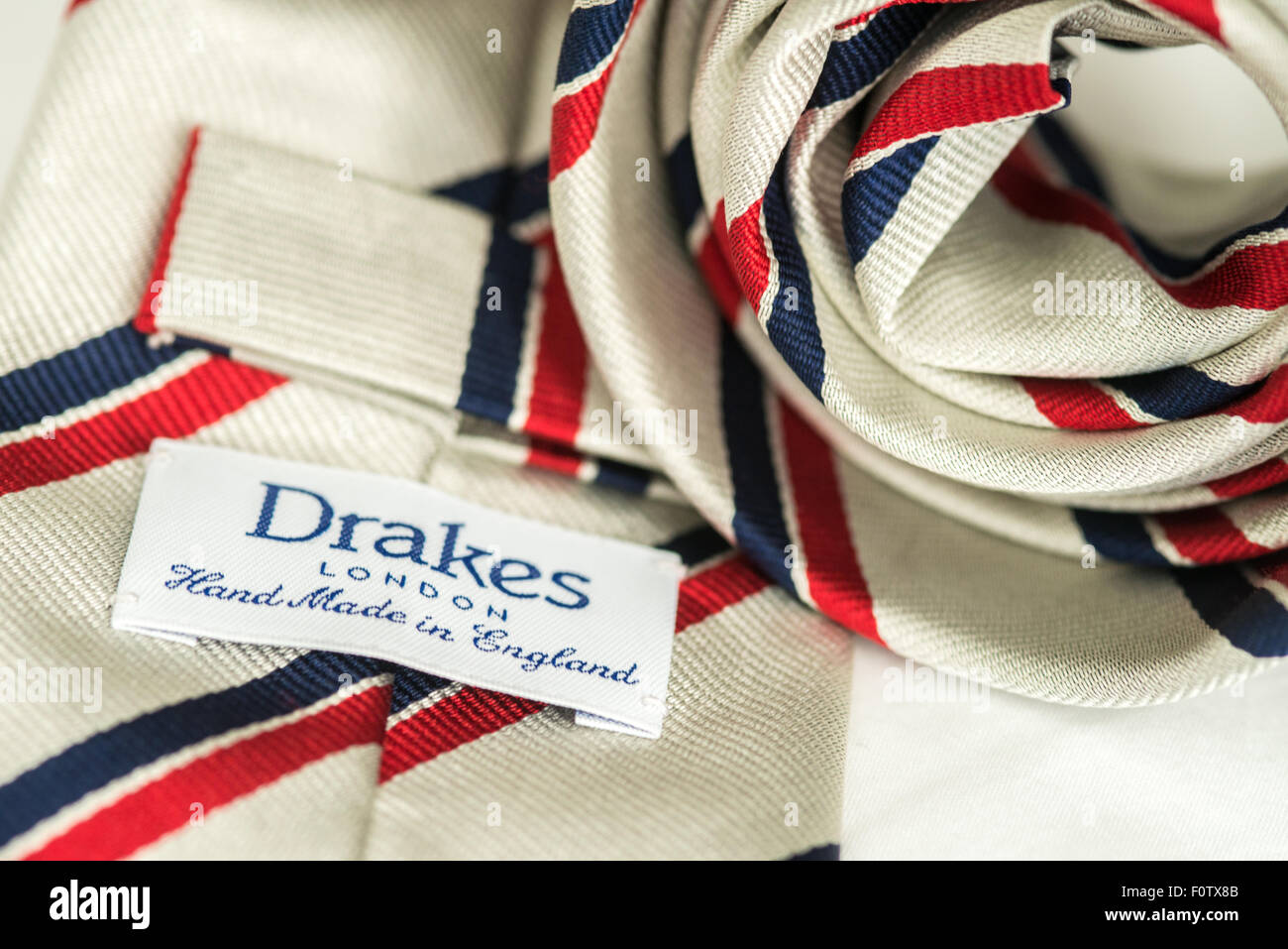 Drake tie, Drakes London hand made in England - Stock Image