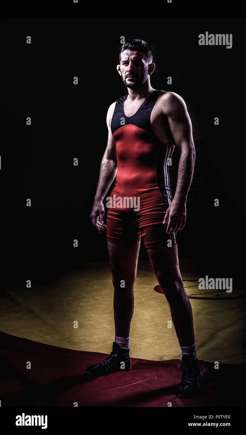Portrait of a male wrestler - Stock Image