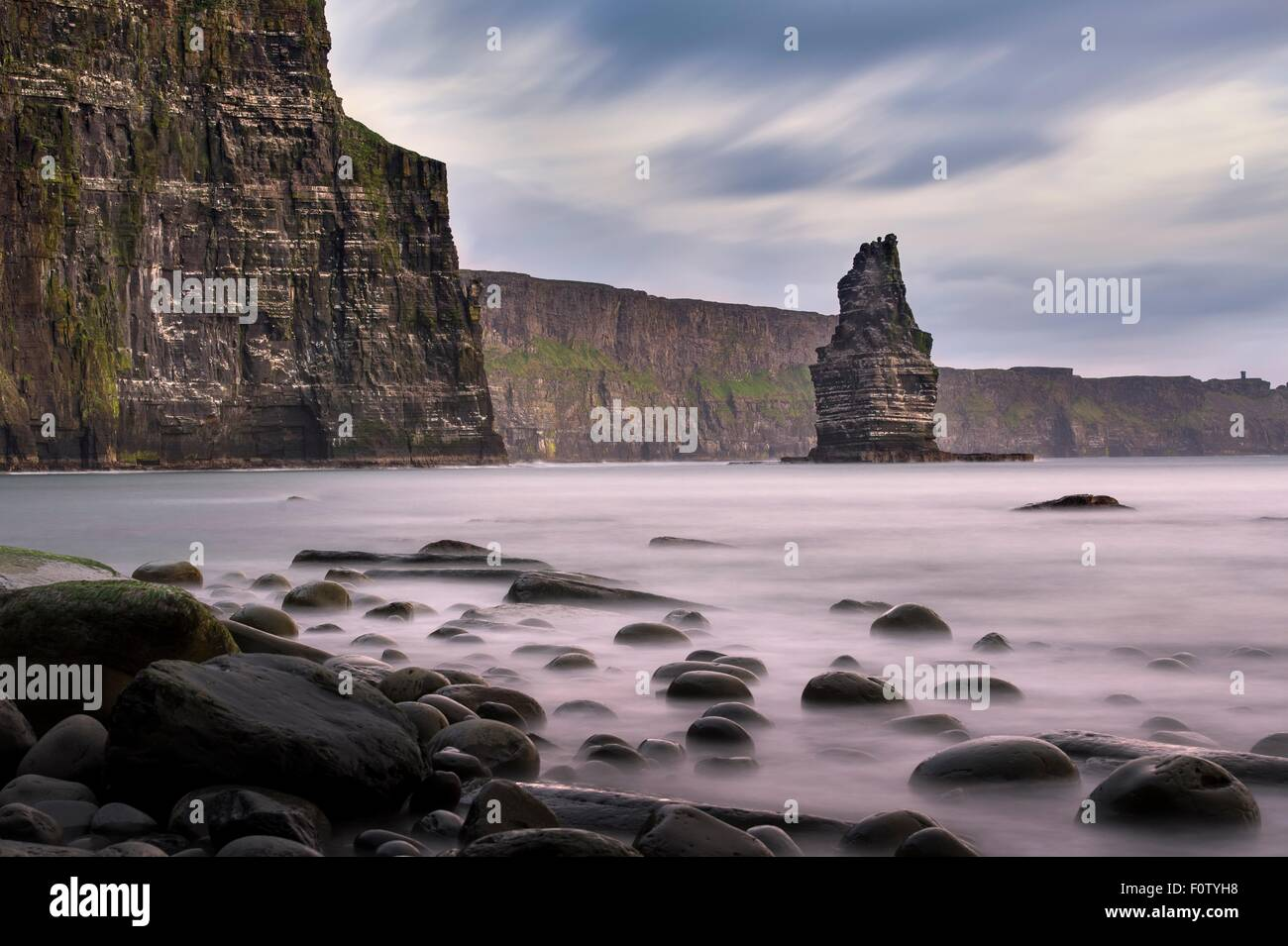 Cliffs of Moher, Liscannor, Ireland - Stock Image