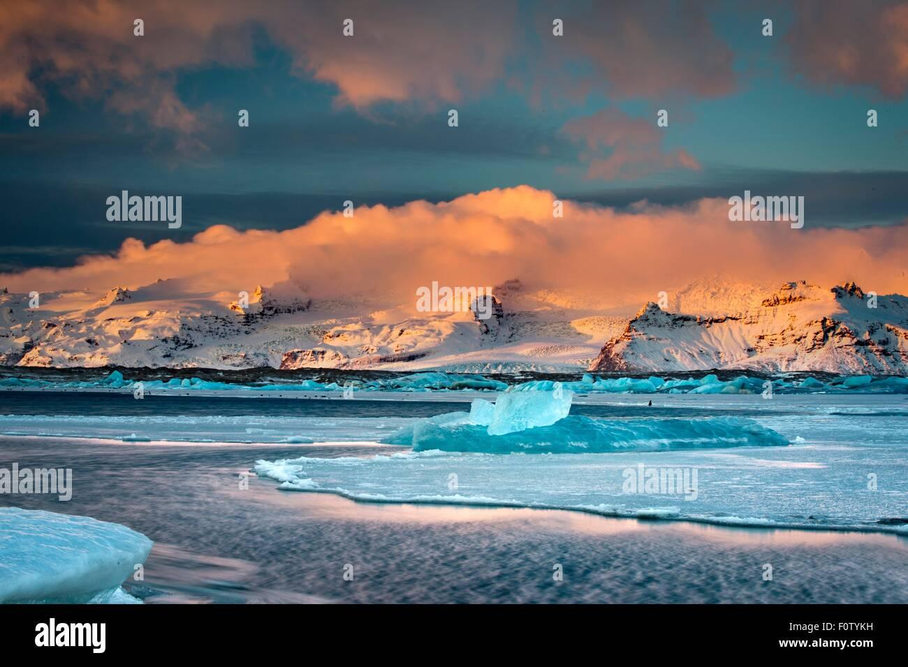 Glacier lake, Iceland - Stock Image
