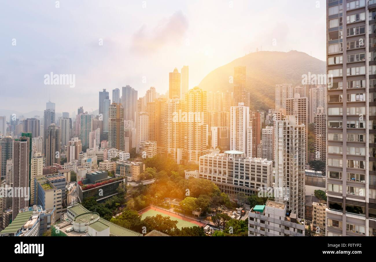 Hong Kong Mid-Levels, Hong Kong, China - Stock Image