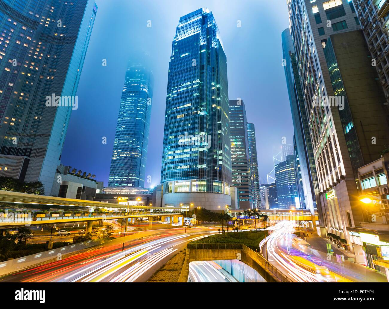 Central Hong Kong skyline with IFC building, Hong Kong, China - Stock Image