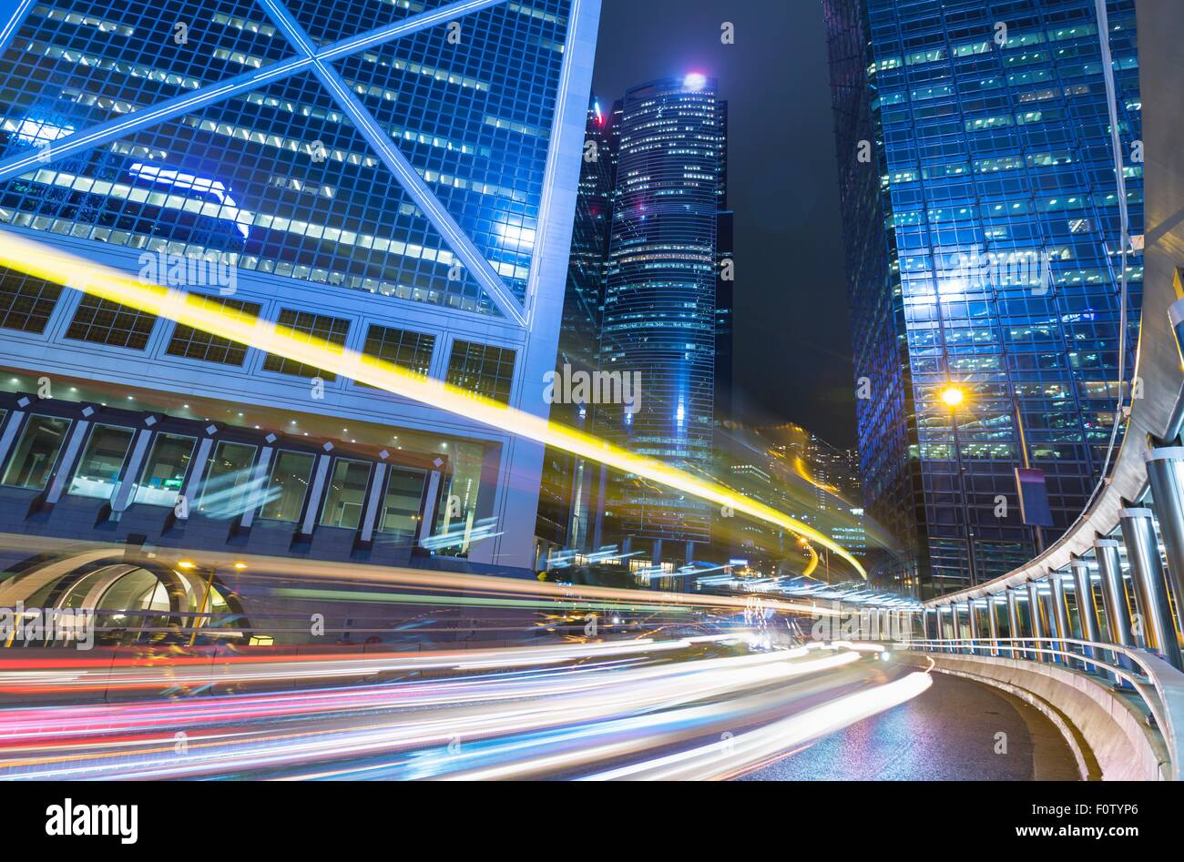 Hong Kong financial district, Hong Kong, China - Stock Image
