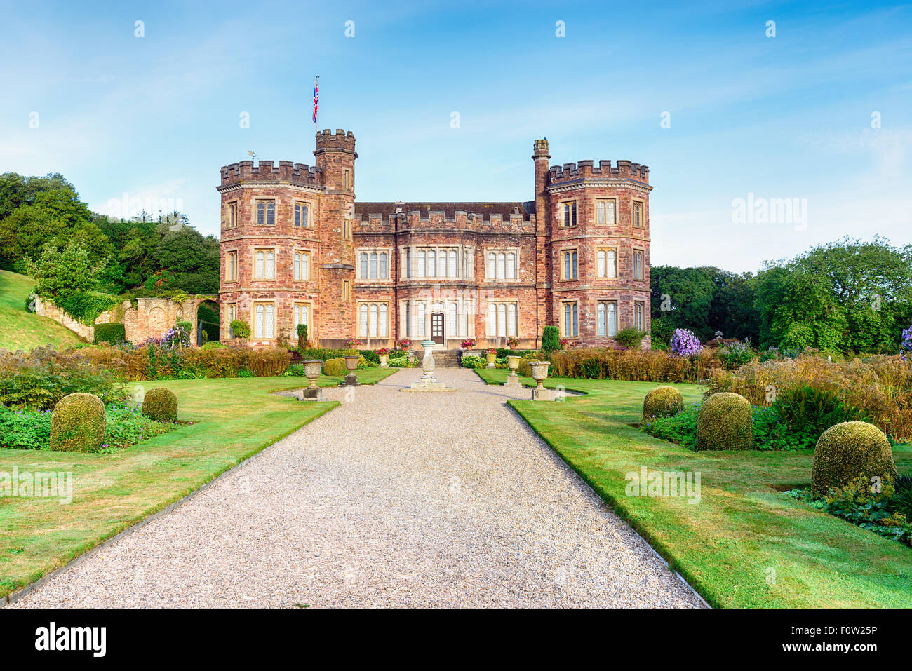 A stately home at Mount Edgcumbe in Cornwall - Stock Image