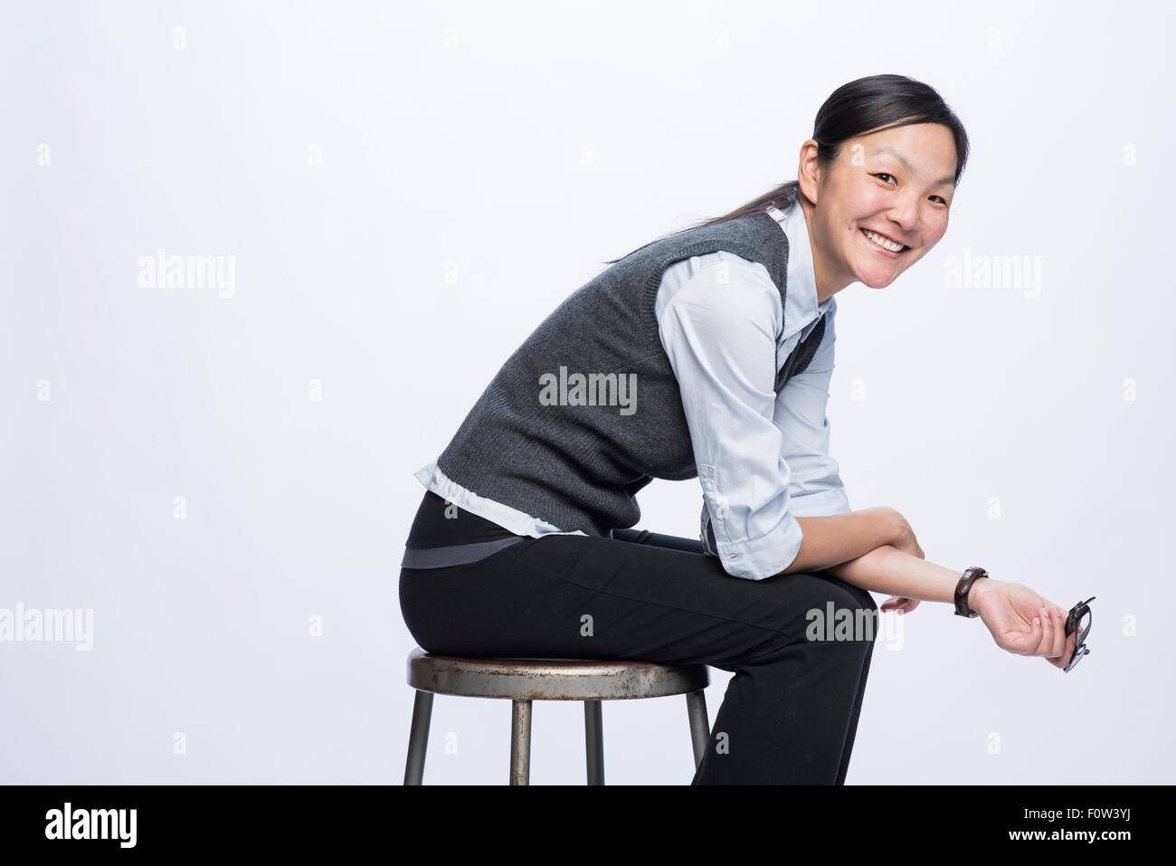 Portrait of business woman - Stock Image