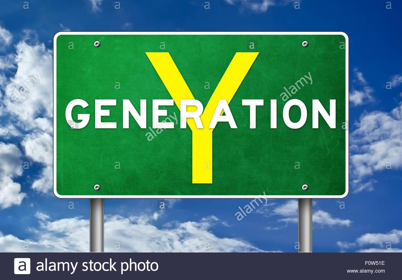 Generation Y - Stock Image
