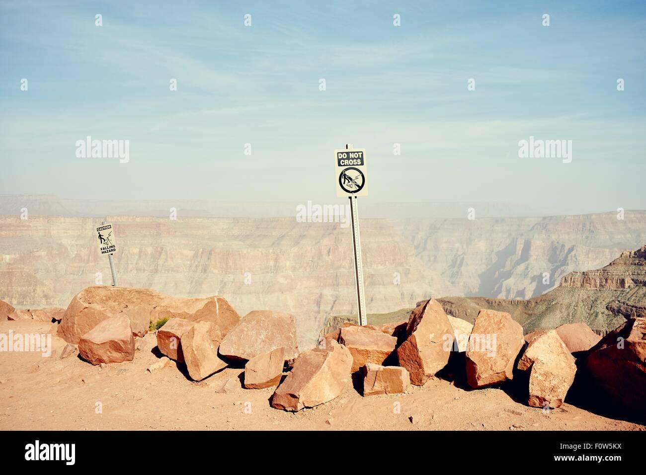 Guano Point, Grand Canyon West, Arizona, USA - Stock Image