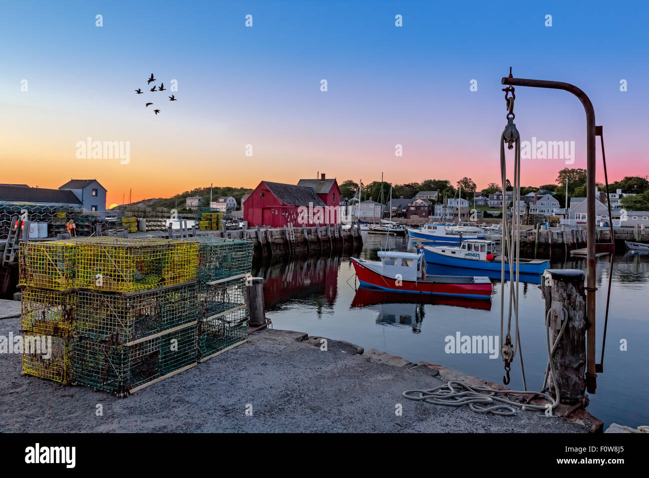 The quintessential New England Motif Number One sunrise. - Stock Image