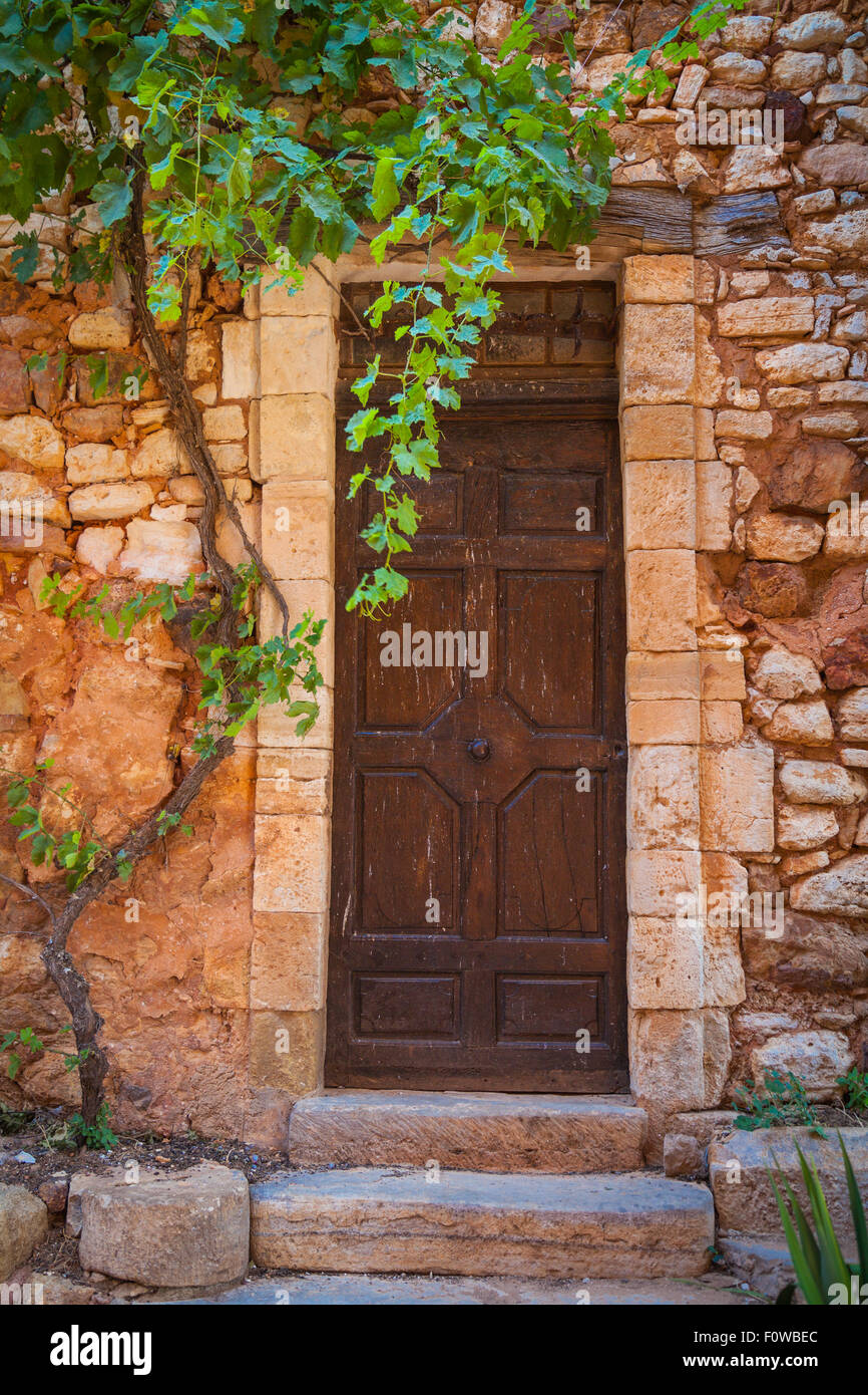 Picture of Roussillion in Provence famous for the ocher quarries - Stock Image