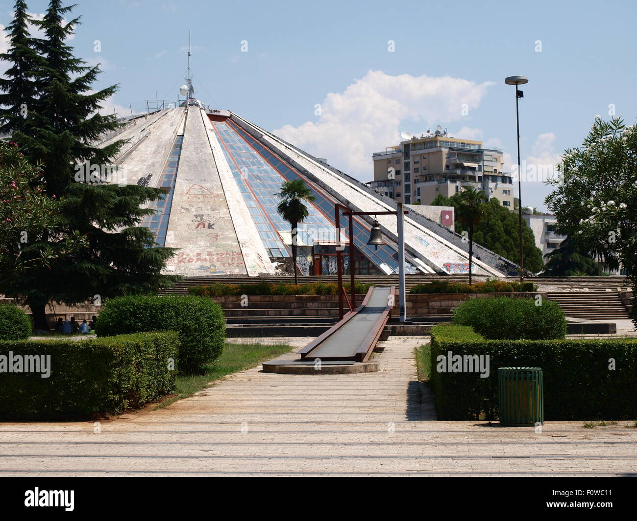Tirana, Albania. Enver Hoxha Mausoleum. Built for life, not used after death. - Stock Image