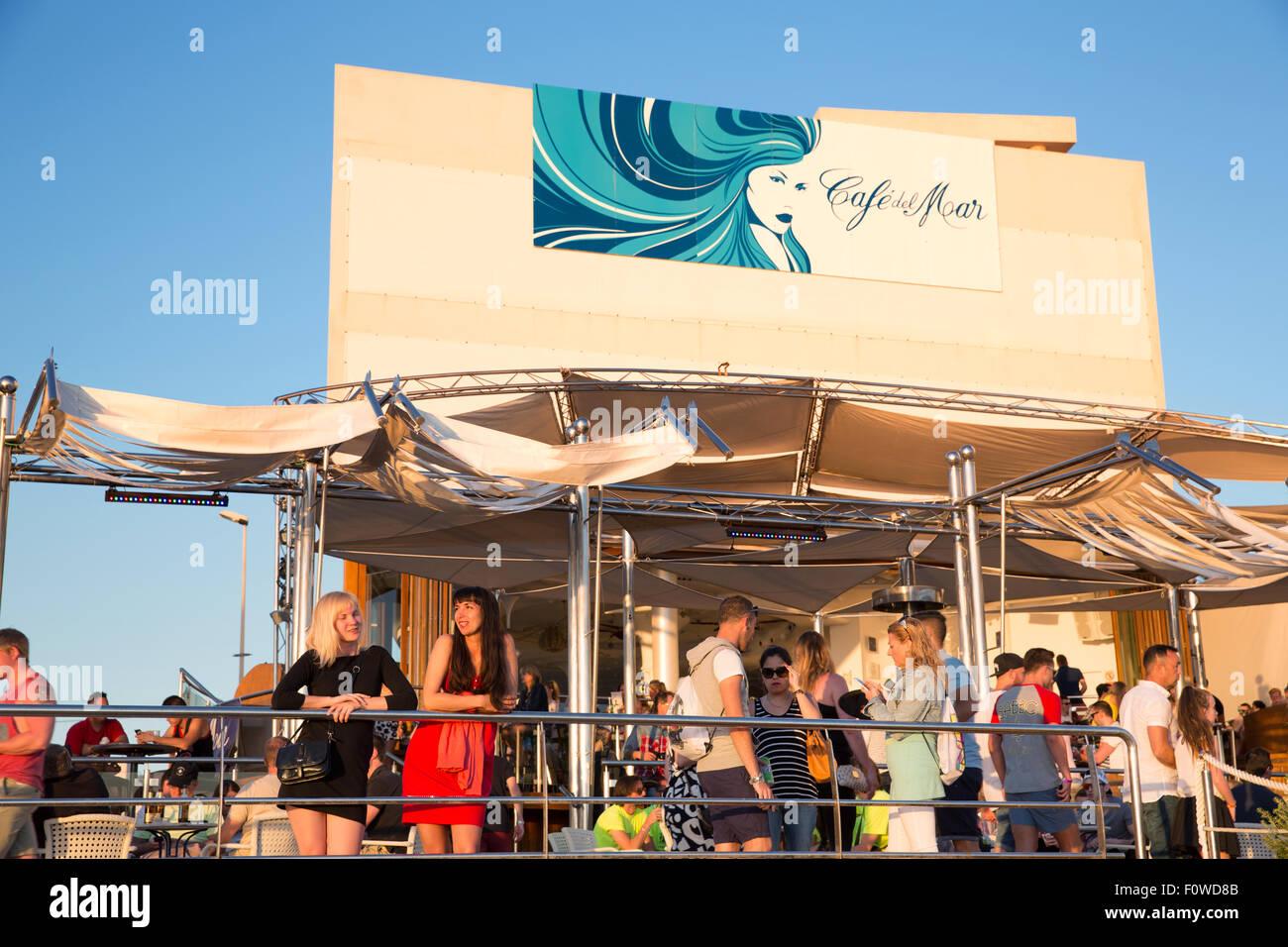 Cafe Del Mar in Ibiza - Stock Image