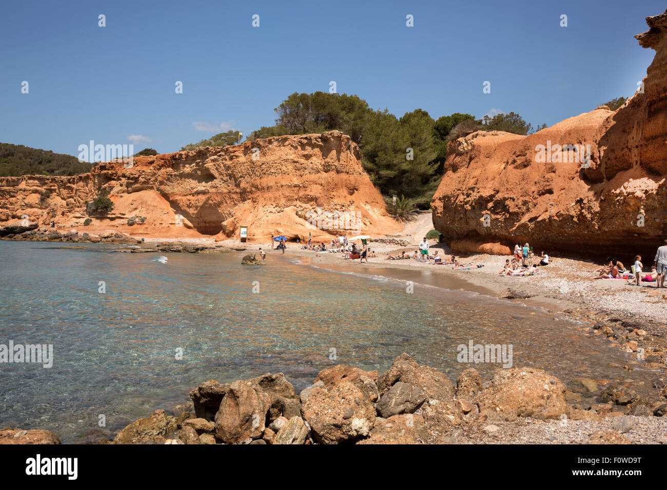 Sa Caleta beach Ibiza, Spain - Stock Image