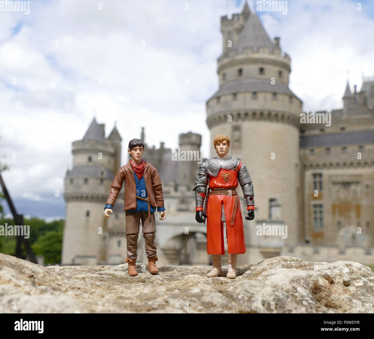 toy action figures from the bbc tv series merlin at he ch teau de 1970s Merlin Toy toy action figures from the bbc tv series merlin at he ch teau de pierrefonds pierrefonds castle in france