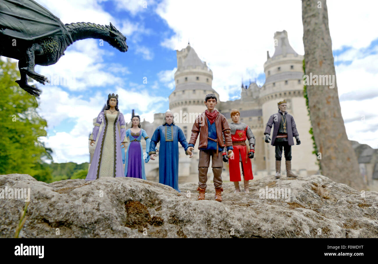 toy action figures from the bbc tv series merlin at he ch teau de Merlin Wizard Toy toy action figures from the bbc tv series merlin at he ch teau de pierrefonds pierrefonds castle in france