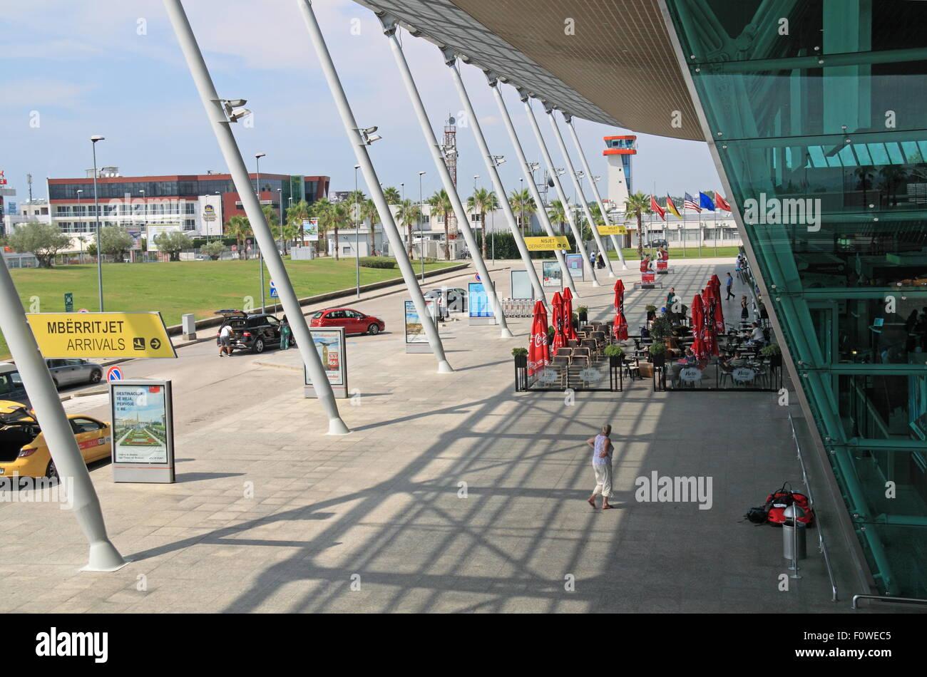 Tirana International Airport Nënë Tereza (Mother Teresa), Rinas, Albania, Balkans, Europe - Stock Image