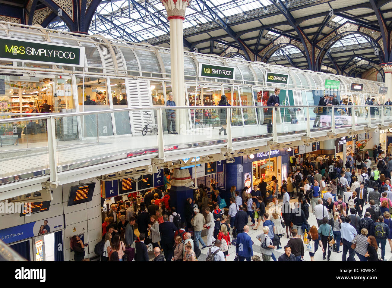 The Marks and Spencer Simply Food Store at Liverpool Street Station. - Stock Image
