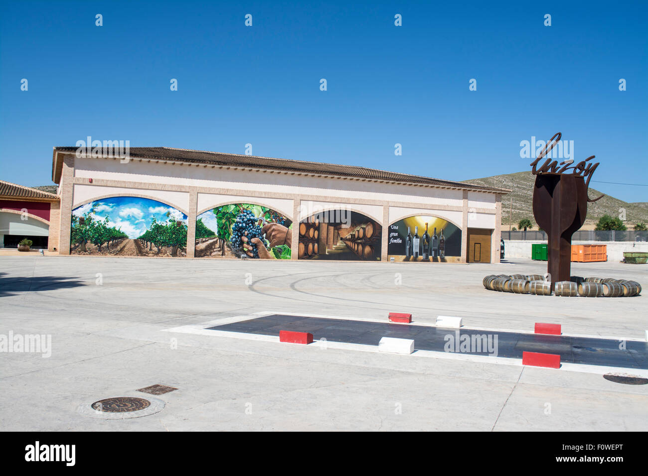 Entrance to the Luzon Bodega, Jumilla, Province of Murcia, Spain - Stock Image