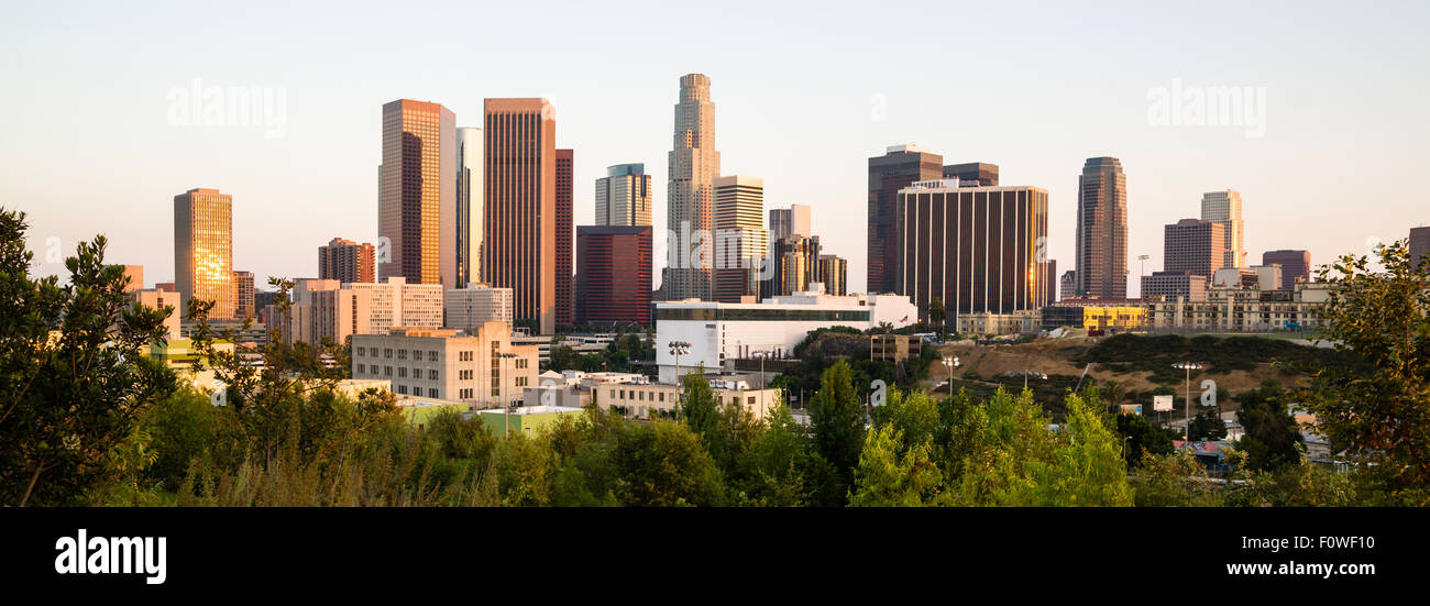 The buildings and Architecture of downtown LA - Stock Image
