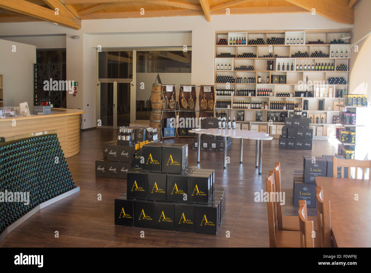 Wine shop at Luzon Bodega, Jumilla, Province of Murcia, Spain - Stock Image